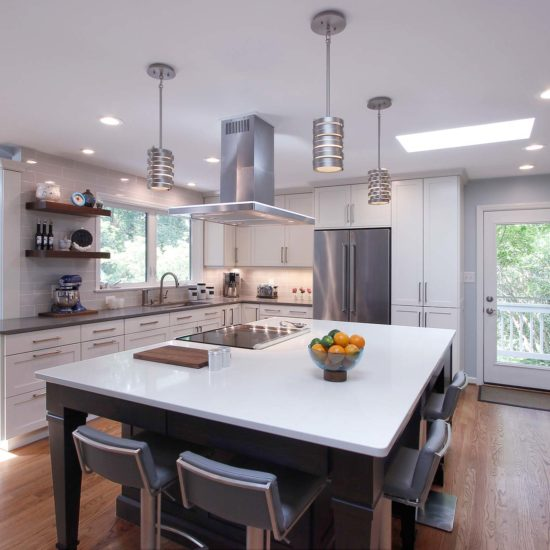 Chapel Hill Transistional Modern Grey Tones Kitchen Design and Remodel