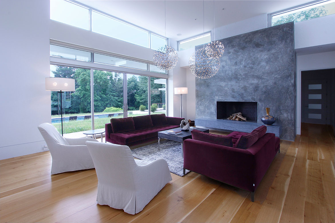 Chapel Hill Modern Architectural Kitchen Design and Remodel - Beautiful Fireplace