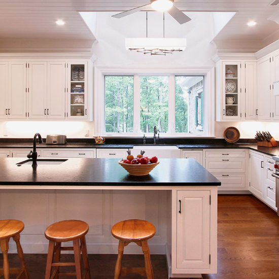Chapel Hill Traditional Kitchen Design and Remodel - Black and White