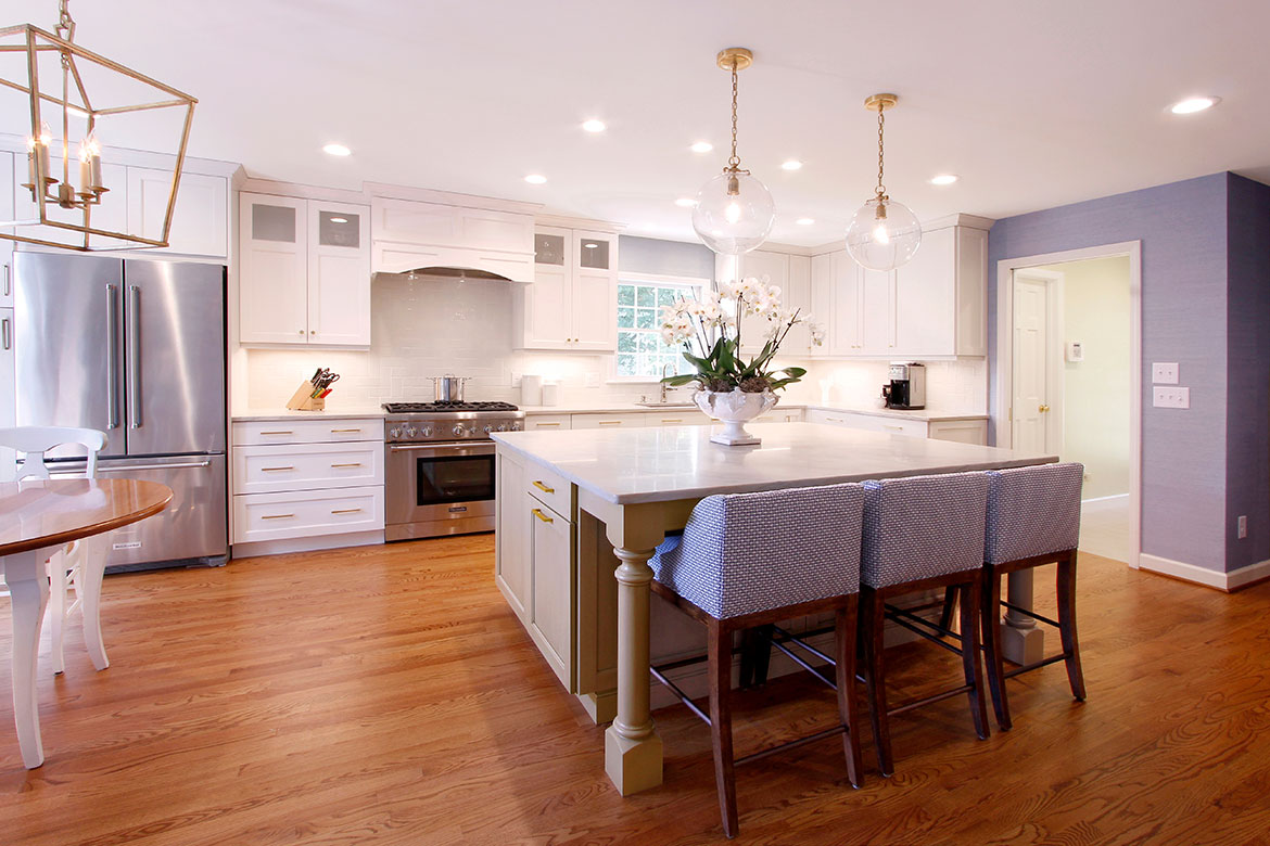 Durham Clean and Crafty Kitchen Design and Remodel - White Cabinets