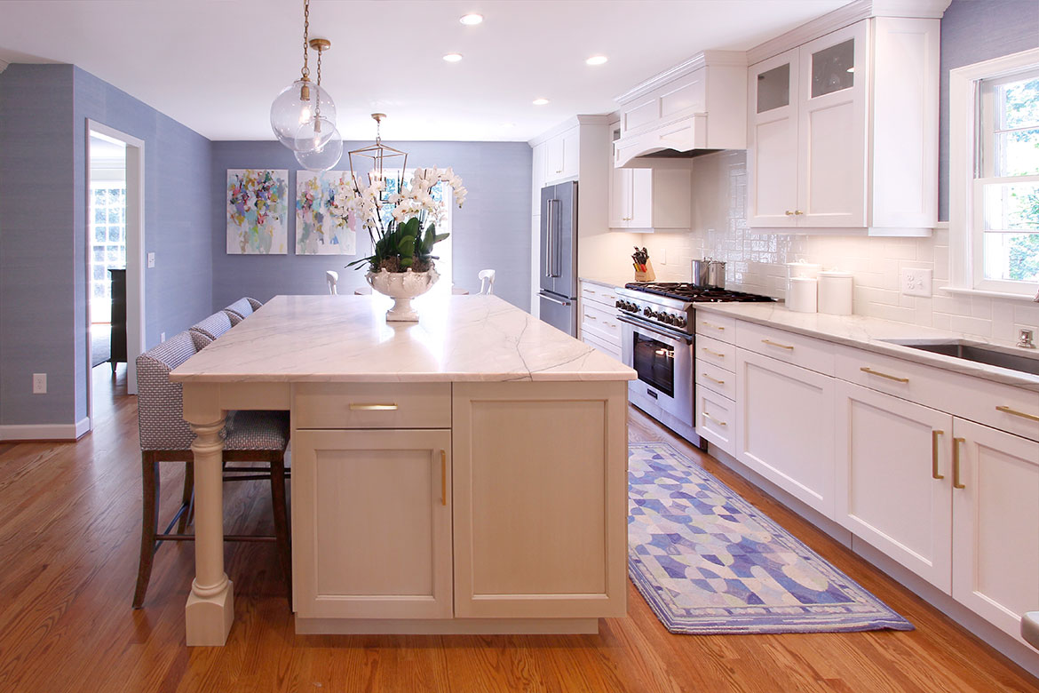 Durham Clean and Crafty Kitchen Design and Remodel - Big Island