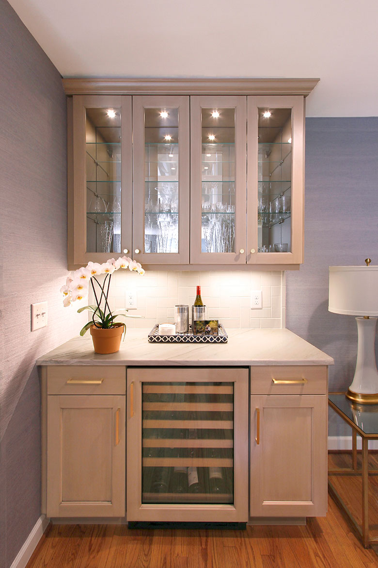 Durham Clean and Crafty Kitchen Design and Remodel - Butler's Pantry Wine Cabinet