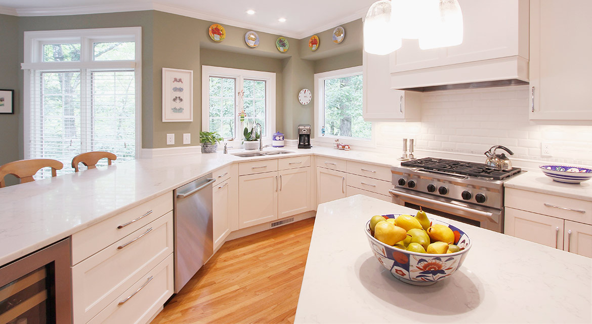 Durham Traditional White Kitchen Design and Remodel - Clean Transitions